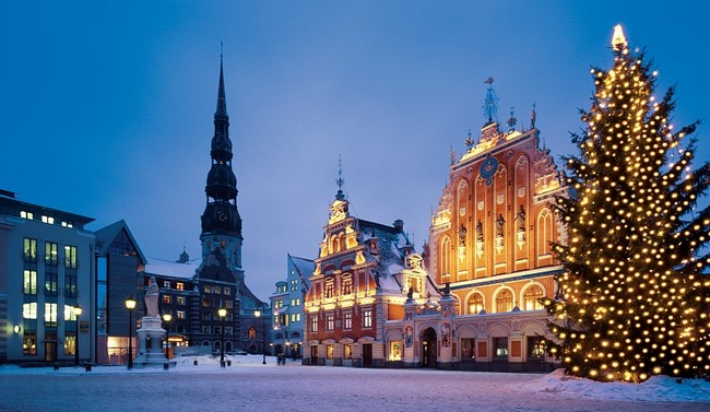 Зимняя красивая Финляндия